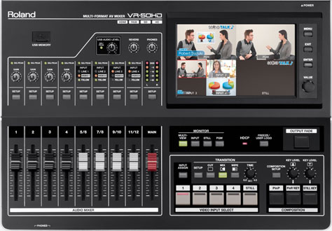 Roland VR-50HD Audio-Video Switcher Scaler & Streaming Mixer Image